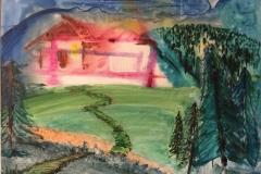 haus im wald painting Jamie St Clair